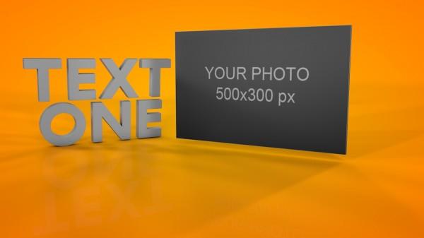 Фото и 3Д текст Cinema 4d